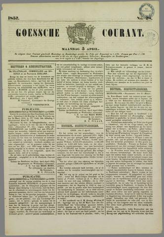 Goessche Courant 1852-04-05