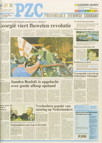 Provinciale Zeeuwse Courant 2003-11-24