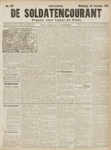 De Soldatencourant. Orgaan voor Leger en Vloot 1916-12-20