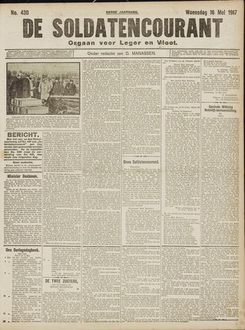 De Soldatencourant. Orgaan voor Leger en Vloot 1917-05-16