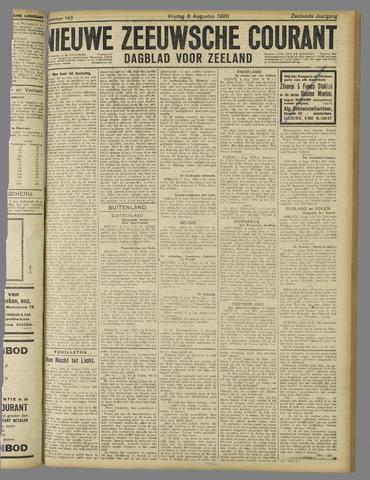 Nieuwe Zeeuwsche Courant 1920-08-06