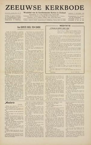 Zeeuwsche kerkbode, weekblad gewijd aan de belangen der gereformeerde kerken/ Zeeuwsch kerkblad 1955-10-07