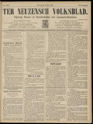 Ter Neuzensch Volksblad. Vrijzinnig nieuws- en advertentieblad voor Zeeuwsch- Vlaanderen / Zeeuwsch Nieuwsblad. Nieuws- en advertentieblad voor Zeeland 1911-05-10