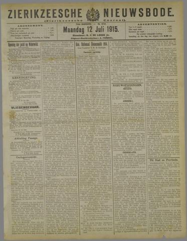 Zierikzeesche Nieuwsbode 1915-07-12