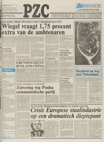 Provinciale Zeeuwse Courant 1980-10-07