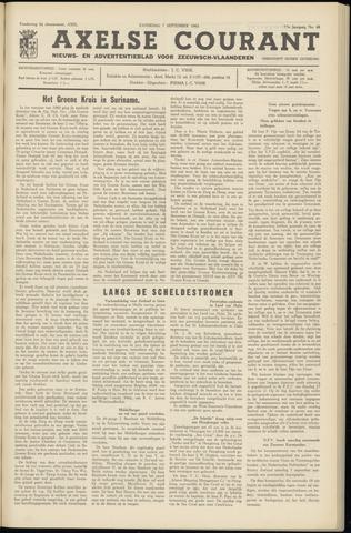 Axelsche Courant 1963-09-07