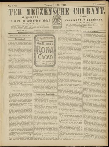Ter Neuzensche Courant. Algemeen Nieuws- en Advertentieblad voor Zeeuwsch-Vlaanderen / Neuzensche Courant ... (idem) / (Algemeen) nieuws en advertentieblad voor Zeeuwsch-Vlaanderen 1912-05-11