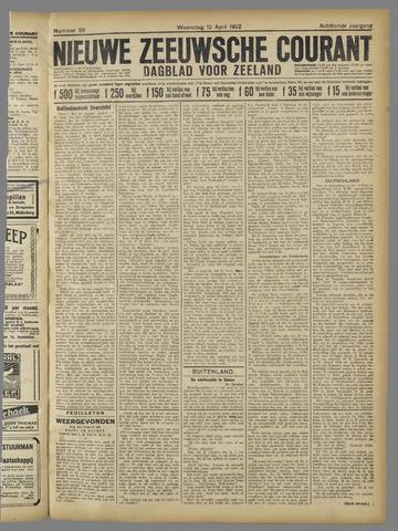 Nieuwe Zeeuwsche Courant 1922-04-12