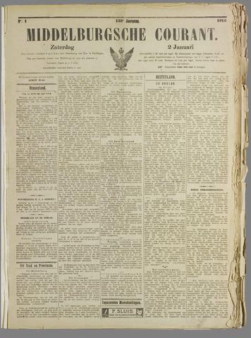 Middelburgsche Courant 1915