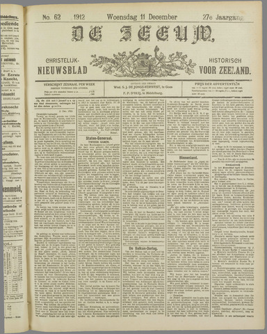 De Zeeuw. Christelijk-historisch nieuwsblad voor Zeeland 1912-12-11