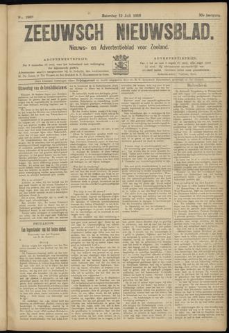 Ter Neuzensch Volksblad. Vrijzinnig nieuws- en advertentieblad voor Zeeuwsch- Vlaanderen / Zeeuwsch Nieuwsblad. Nieuws- en advertentieblad voor Zeeland 1919-07-12