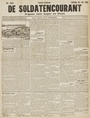 De Soldatencourant. Orgaan voor Leger en Vloot 1916-07-30