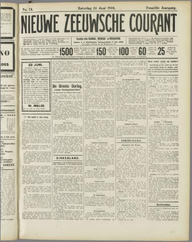 Nieuwe Zeeuwsche Courant 1916-06-24