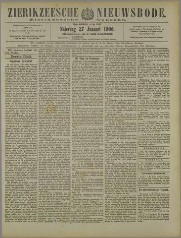 Zierikzeesche Nieuwsbode 1906-01-27
