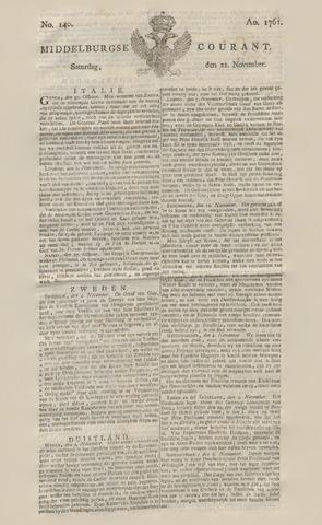 Middelburgsche Courant 1761-11-21