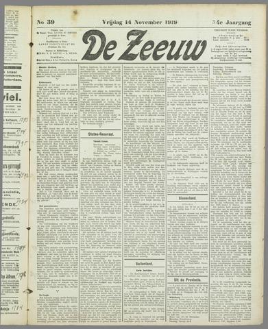 De Zeeuw. Christelijk-historisch nieuwsblad voor Zeeland 1919-11-14