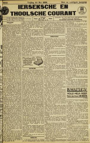 Ierseksche en Thoolsche Courant 1926-05-14