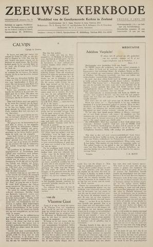 Zeeuwsche kerkbode, weekblad gewijd aan de belangen der gereformeerde kerken/ Zeeuwsch kerkblad 1959-06-19