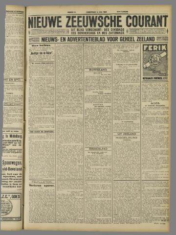 Nieuwe Zeeuwsche Courant 1927-07-14