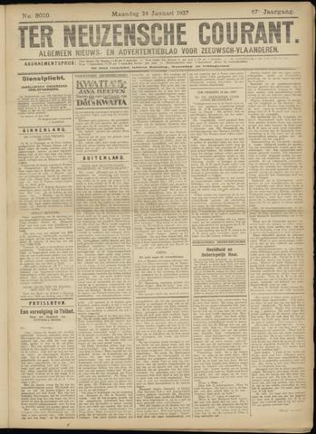 Ter Neuzensche Courant. Algemeen Nieuws- en Advertentieblad voor Zeeuwsch-Vlaanderen / Neuzensche Courant ... (idem) / (Algemeen) nieuws en advertentieblad voor Zeeuwsch-Vlaanderen 1927-01-24