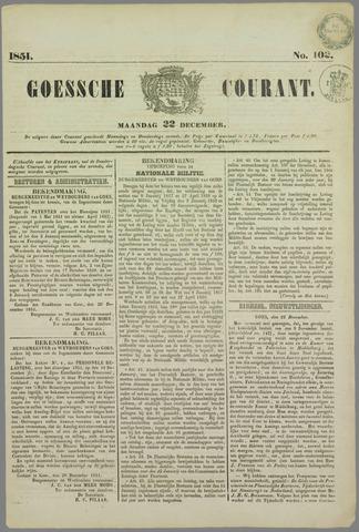 Goessche Courant 1851-12-22