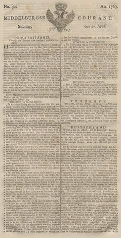 Middelburgsche Courant 1763-04-30