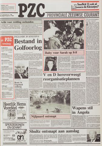 Provinciale Zeeuwse Courant 1988-08-09