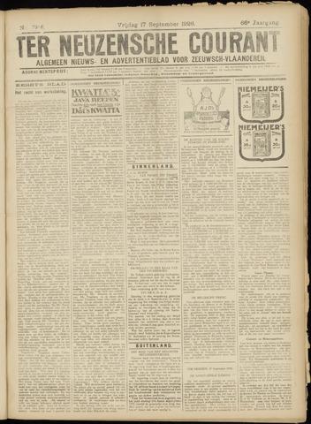 Ter Neuzensche Courant. Algemeen Nieuws- en Advertentieblad voor Zeeuwsch-Vlaanderen / Neuzensche Courant ... (idem) / (Algemeen) nieuws en advertentieblad voor Zeeuwsch-Vlaanderen 1926-09-17