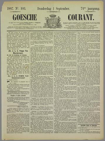 Goessche Courant 1887-09-01