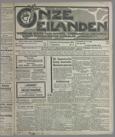 Onze Eilanden 1918-11-30