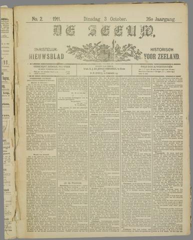 De Zeeuw. Christelijk-historisch nieuwsblad voor Zeeland 1911-10-03