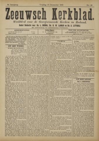 Zeeuwsche kerkbode, weekblad gewijd aan de belangen der gereformeerde kerken/ Zeeuwsch kerkblad 1908-12-18