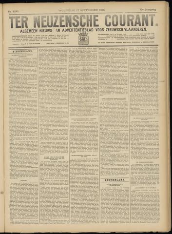 Ter Neuzensche Courant. Algemeen Nieuws- en Advertentieblad voor Zeeuwsch-Vlaanderen / Neuzensche Courant ... (idem) / (Algemeen) nieuws en advertentieblad voor Zeeuwsch-Vlaanderen 1930-09-17
