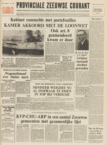 Provinciale Zeeuwse Courant 1969-09-26