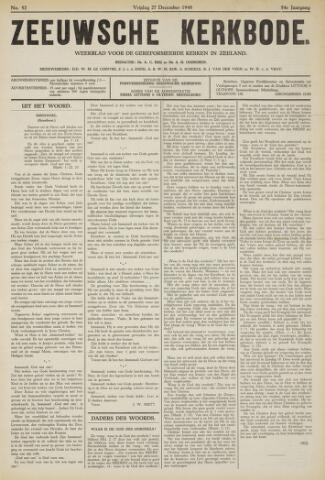 Zeeuwsche kerkbode, weekblad gewijd aan de belangen der gereformeerde kerken/ Zeeuwsch kerkblad 1940-12-27