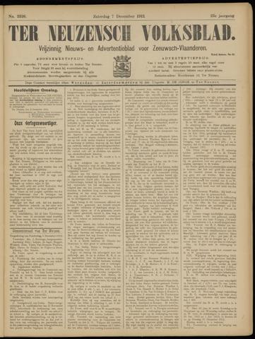 Ter Neuzensch Volksblad. Vrijzinnig nieuws- en advertentieblad voor Zeeuwsch- Vlaanderen / Zeeuwsch Nieuwsblad. Nieuws- en advertentieblad voor Zeeland 1912-12-07