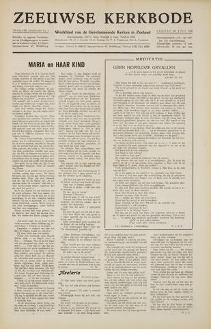Zeeuwsche kerkbode, weekblad gewijd aan de belangen der gereformeerde kerken/ Zeeuwsch kerkblad 1956-07-20