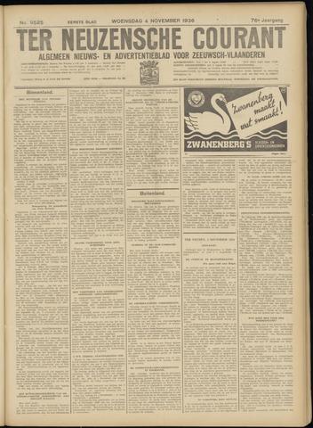 Ter Neuzensche Courant. Algemeen Nieuws- en Advertentieblad voor Zeeuwsch-Vlaanderen / Neuzensche Courant ... (idem) / (Algemeen) nieuws en advertentieblad voor Zeeuwsch-Vlaanderen 1936-11-04