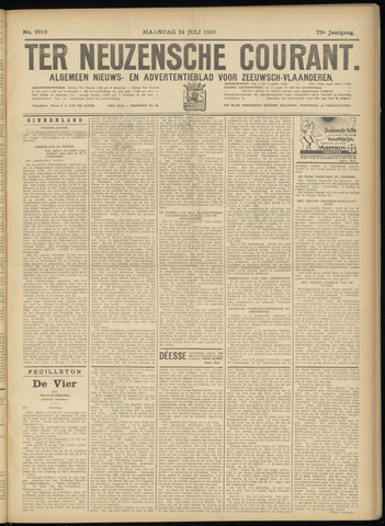 Ter Neuzensche Courant. Algemeen Nieuws- en Advertentieblad voor Zeeuwsch-Vlaanderen / Neuzensche Courant ... (idem) / (Algemeen) nieuws en advertentieblad voor Zeeuwsch-Vlaanderen 1933-07-24