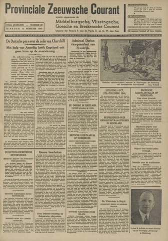 Provinciale Zeeuwse Courant 1941-02-11