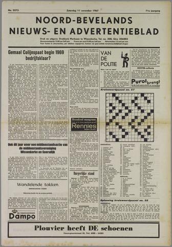 Noord-Bevelands Nieuws- en advertentieblad 1967-11-11