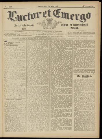 Luctor et Emergo. Antirevolutionair nieuws- en advertentieblad voor Zeeland / Zeeuwsch-Vlaanderen. Orgaan ter verspreiding van de christelijke beginselen in Zeeuwsch-Vlaanderen 1915-05-27