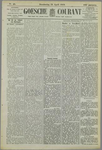 Goessche Courant 1919-04-24
