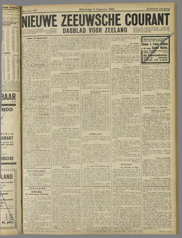 Nieuwe Zeeuwsche Courant 1920-08-11