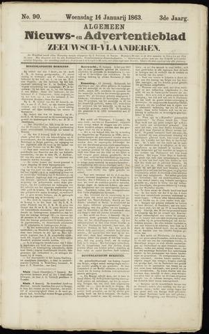 Ter Neuzensche Courant. Algemeen Nieuws- en Advertentieblad voor Zeeuwsch-Vlaanderen / Neuzensche Courant ... (idem) / (Algemeen) nieuws en advertentieblad voor Zeeuwsch-Vlaanderen 1863-01-14