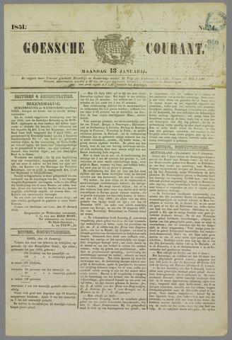 Goessche Courant 1851-01-13