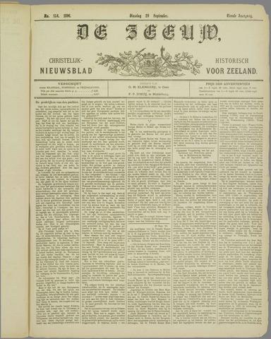 De Zeeuw. Christelijk-historisch nieuwsblad voor Zeeland 1896-09-29