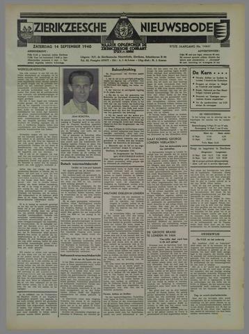Zierikzeesche Nieuwsbode 1940-09-14