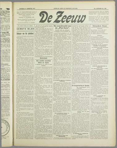 De Zeeuw. Christelijk-historisch nieuwsblad voor Zeeland 1937-08-14
