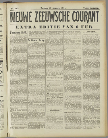 Nieuwe Zeeuwsche Courant 1914-08-29